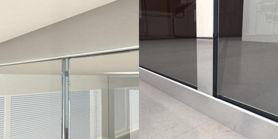 pared de vidrio