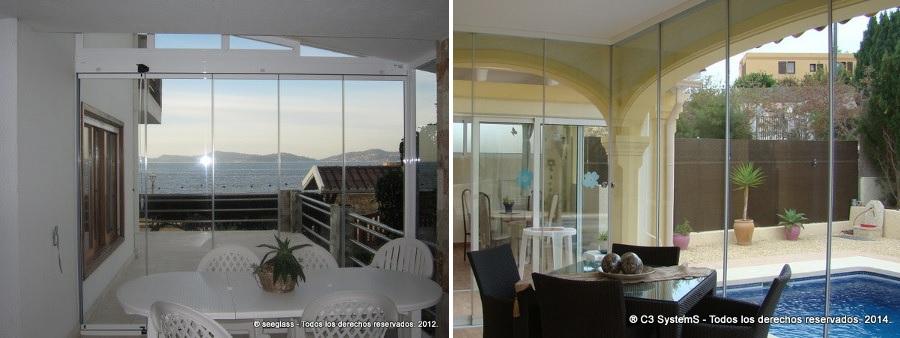 si lo que se quiere es acristalar una terraza tanto el seeglass one como el seeglass run son una excelente opcin ya que ambos sistemas dan una solucin